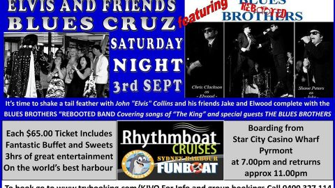 Elvis And Friends Sydney Harbour Blues Cruise (Feat Blues Brothers Rebooted)