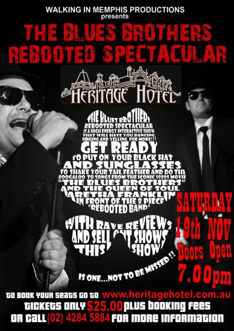 Blues Brothers Rebooted Live at The Heritage Hotel (Bulli)