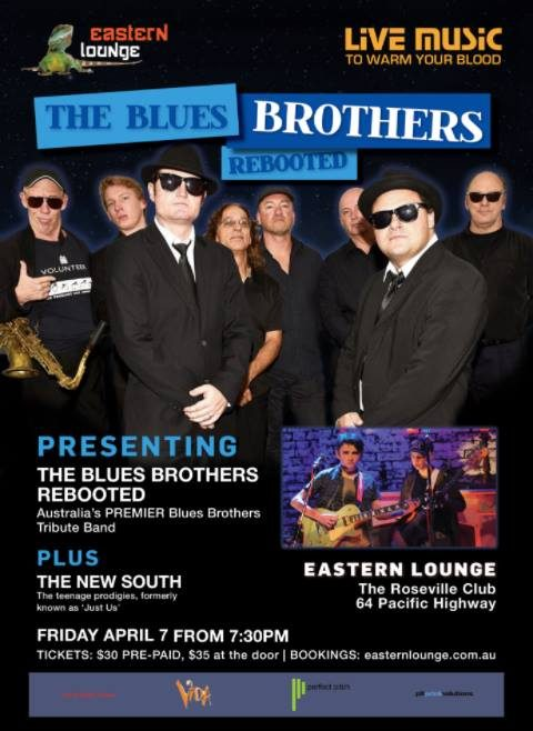 Blues Brothers Rebooted Live At The Eastern Lounge Club Roseville