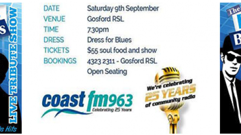 Blues Brothers Rebooted Live at Gosford R.S.L CoastFM96.3 Corporate Event