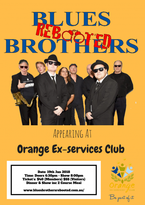 Blues Brothers Rebooted Live at Orange Ex-Services Club