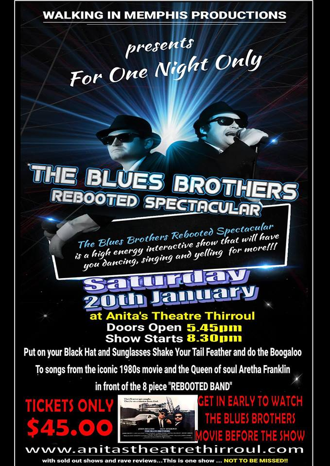 2546b44b4 Blues Brothers Rebooted Live at Anita's Theatre (Thirroul) – Blues ...