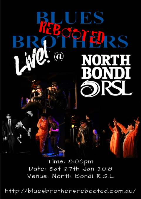 Blues Brothers Rebooted Live at North Bondi R.S.L