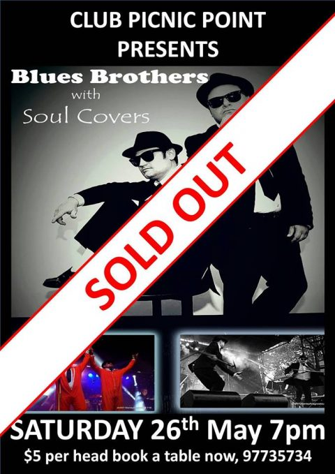 (SOLD OUT) Blues Brothers with Soul Covers  at Picnic Point Bowling Club