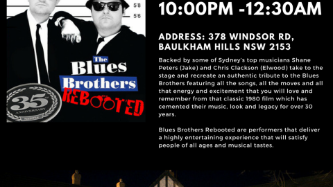 Blues Brothers Rebooted Live at Bull & Bush Hotel