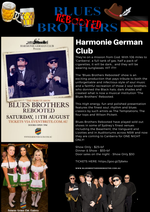 Blues Brothers Rebooted Live at the Harmonie German Club Canberra