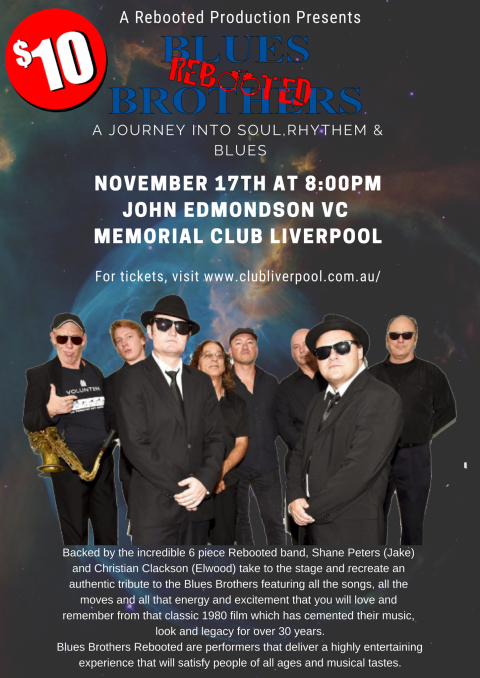 Blues Brothers Rebooted Live at John Edmondson VC Memorial Club Liverpool