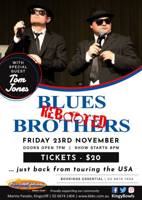 Blues Brothers Rebooted Live at Kingscliff Beach Bowling Club