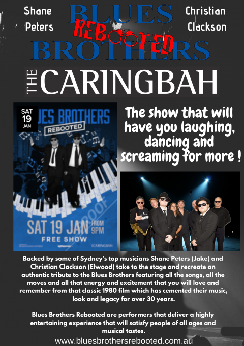 Blues Brothers Rebooted Live at The Caringbah
