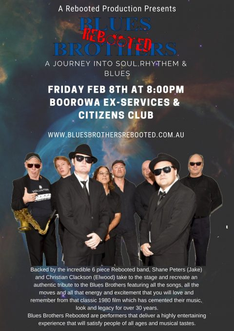 Blues Brothers Rebooted Live at Boorowa Ex-Services & Citizens Club