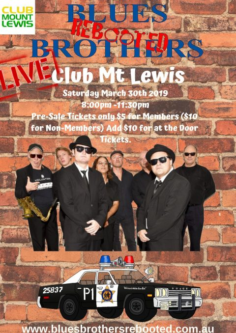 Blues Brothers Rebooted Live at Club Mt Lewis